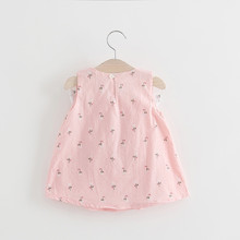 06520c3ebaa34 BNWIGE 0-24M Casual Summer Baby Girl Dress Cotton Print Floral Bow Infant  Girl Dresses Toddler Baby Girl Clothes