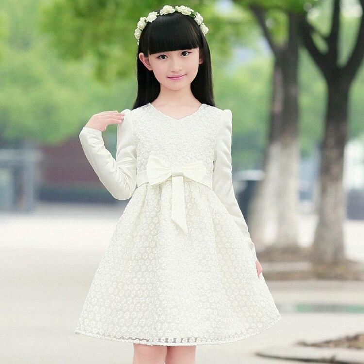 558b46389a13 New girl casual dress kids clothing white princess dress long ...