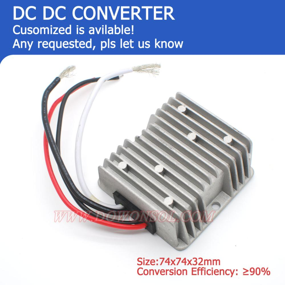 GREAT!! 75W 12V/24V dc to 5v dc 15A DC converter for e-tricycle /rickshaw dc dc converter dc12v 9 14v to dc15v 15a 225w