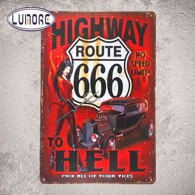 Famous Route 66 Highway to Hell Devil