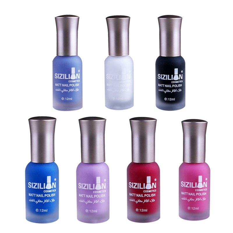 1 Bottle Profession Beauty 12ml Matte Dull Nail Polish Fast Dry Long-lasting Nail Art Varnish Lacquer Nail Makeups