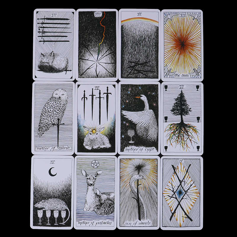 78Pcs/set Wild Unknown Tarot Deck Rider Oracle Cards Mysterious Animal Totem Tarot Cards Deck 78 Cards, Guidance - Board Game