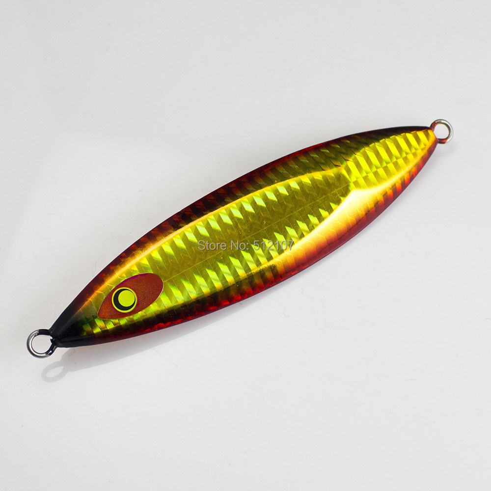 1pc 125g Countbass Slow Jig, Jigging Lures,Metal Lead Fishing Bait, Glow Lure, Free shipment
