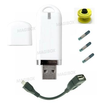134 2 Khz EM4305 125KHFDX-B dla zwierząt domowych RFID czytnik USB obsługa systemu Android kup jeden dostać 1 ucho tag 3 szkło microchip Tag darmowa tanie i dobre opinie 134 2Khz Jedrek