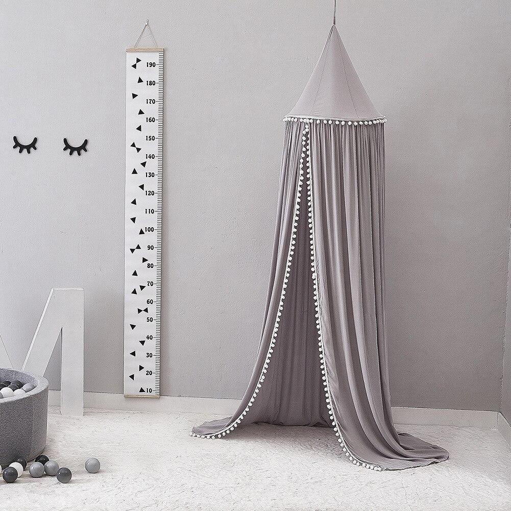 Style nordique berceau filet grand coton boule dôme couleur unie berceau manteau bébé chambre lecture coin décoration tente moustiquaire