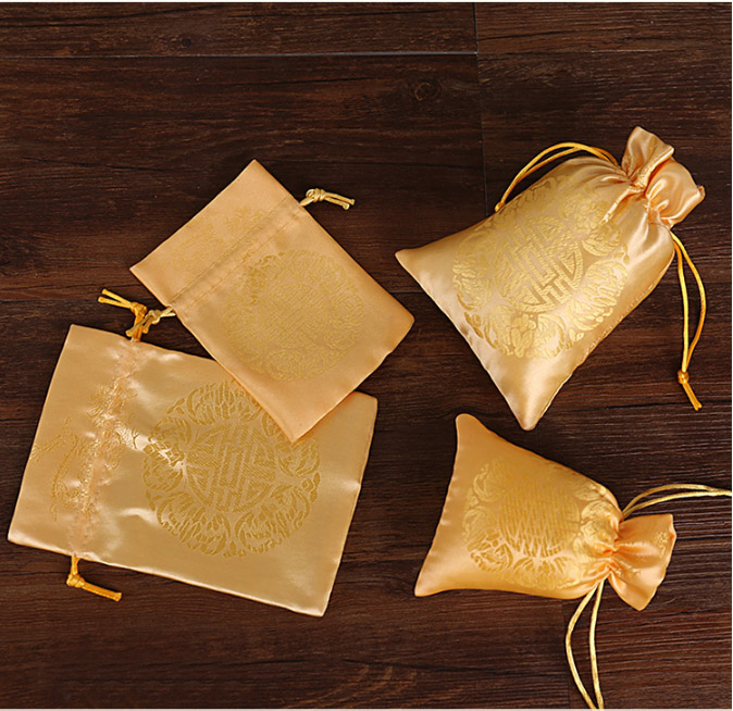 Image 4 - China Embroider Silk Stain Jewelry Gift Pouch 10x13cm(4x5inch) 