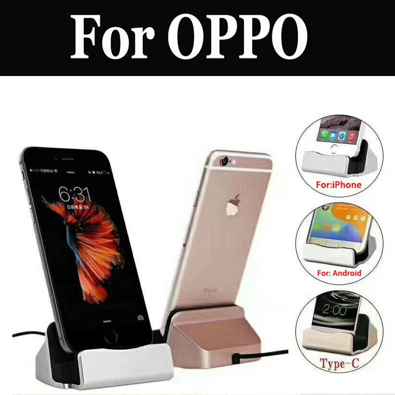 Usb <font><b>Charger</b></font> Dock Magnetic Stand Fit Mobile Holder For Oppo R9s R9s Plus F3 Plus R11 R11s F5 R15 Rx17 Neo A83 F7 Ax7 A5 <font><b>A3s</b></font> R15 image