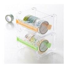 Креативный и бумажный резак для ленты, канцелярские принадлежности, прозрачный держатель для ленты, диспенсер для ленты