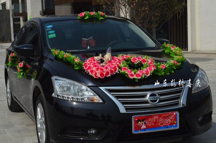 2017 Nueva Seda Artificial Rose Flowers Wedding Car Decoration Set - Para fiestas y celebraciones - foto 1