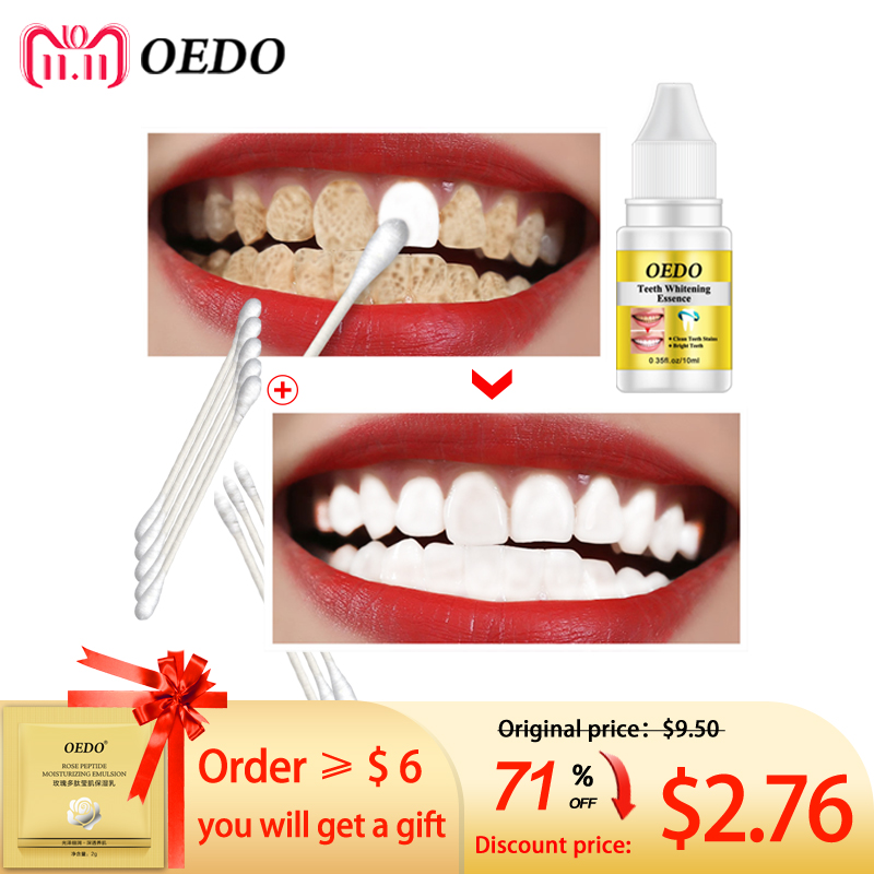 OEDO Teeth Whitening Essence Powder Oral Hygiene Cleaning Serum Removes Plaque Stains Tooth Bleaching Dental Tools Toothpaste