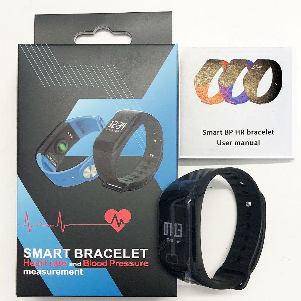 US $11 54 30% OFF|COXANG F1 Smart Bracelet Heart Rate Monitor Blood  Pressure Wearfit Fitness Tracker Pulsometer Passometer Activity Smart  Bracelet-in