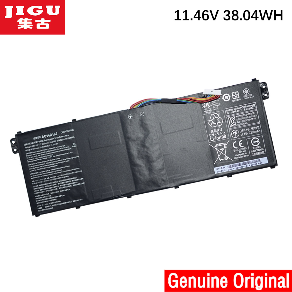 JIGU AC14B18J מקורי מחשב נייד סוללה עבור Acer Aspire E3-111 E3-112 E3-112M ES1-511 TravelMate B116 B115-M B115-MP AC14B13j