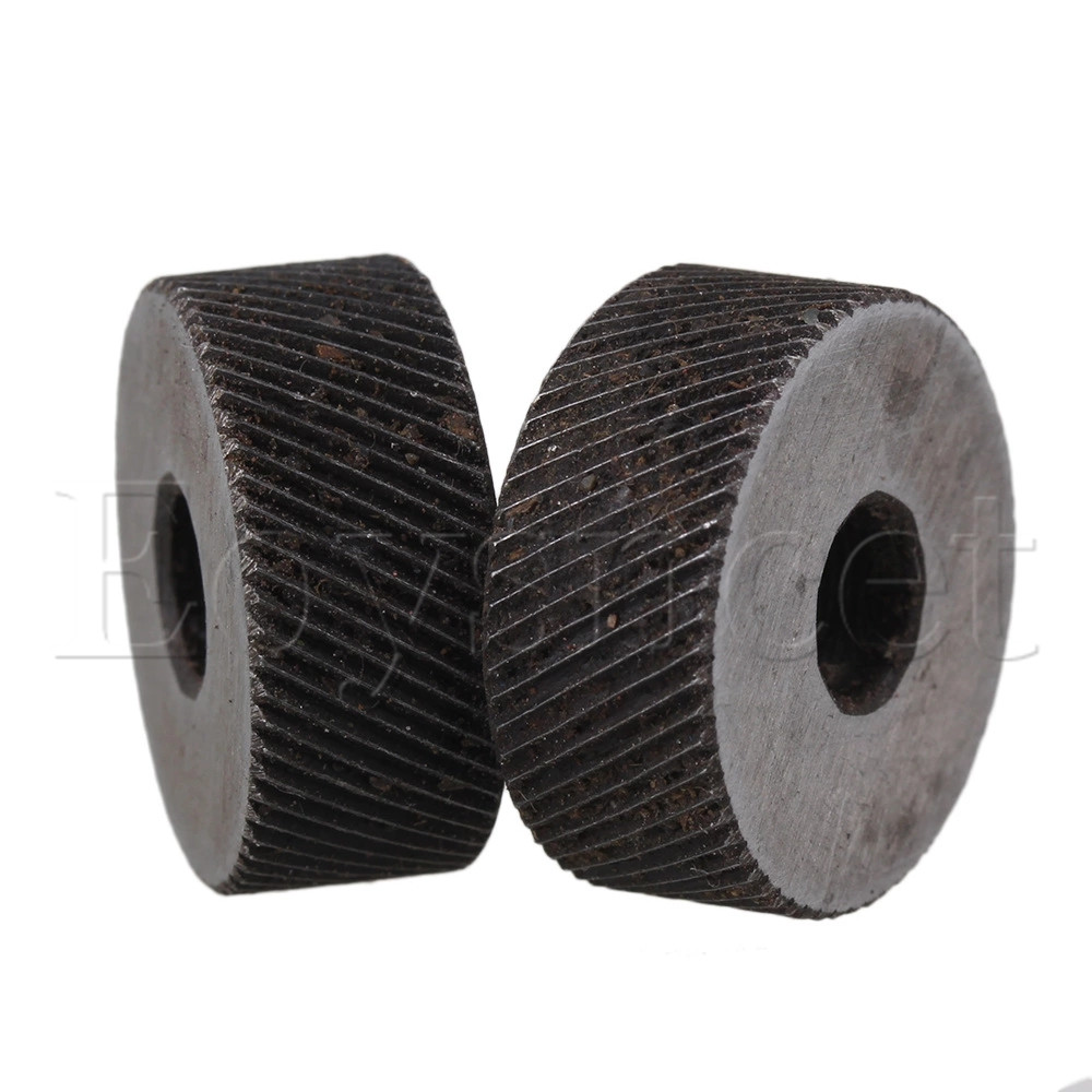 2PCS 19 X 8mm Knurl Wheel Tool Diagonal Coarse Twill Pattern 0.8mm Pitch Roller