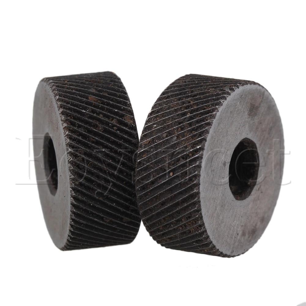 2PCS 19 X 8mm Knurl Wheel Tool Diagonal Coarse Twill Pattern 0.8mm Pitch Roller