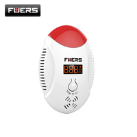 FUERS LED Digital Display CO Gas Detector Voice Prompt Home Security Personal Safety Carbon Monoxide Detector