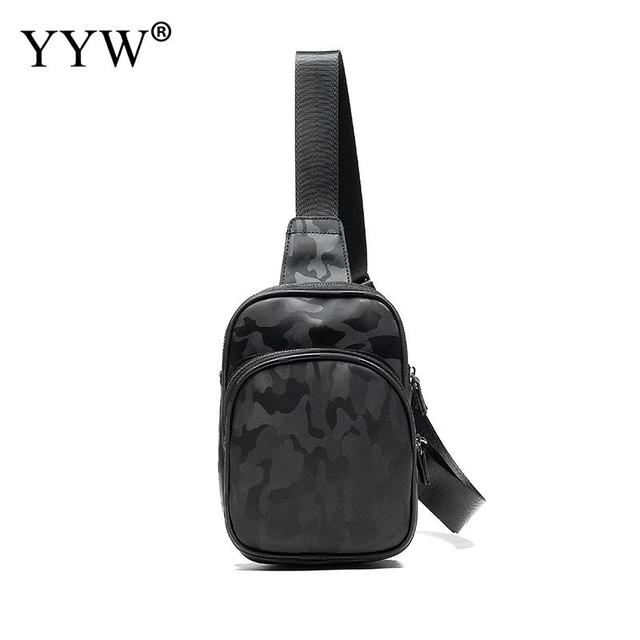 ed63f17961 Camouflage Vintage Male Sling Bag Soft PU Leather Handbag Large Capacity Courier  Messenger Bag Multifunction Chest