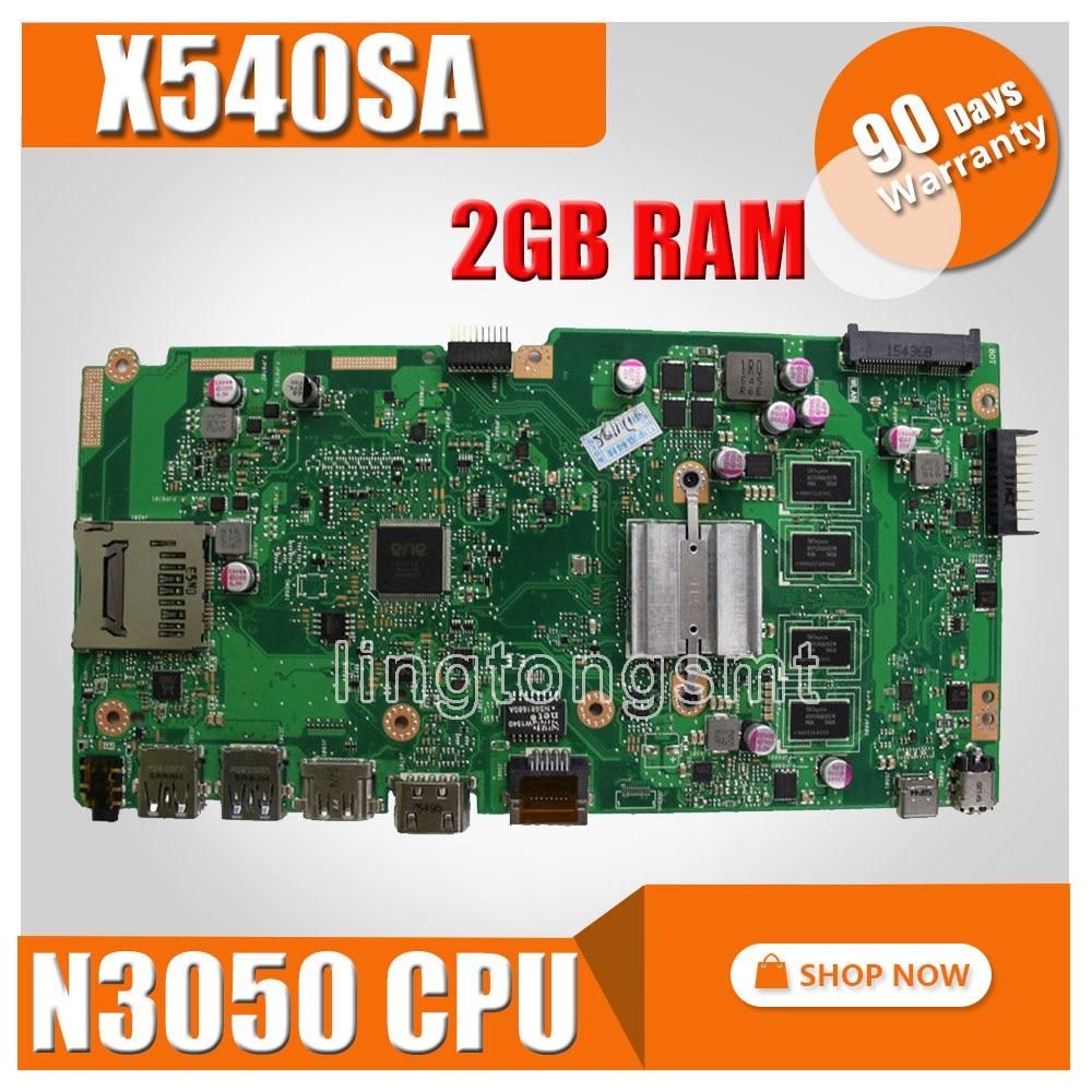 X540SA Motherboard N3050 CPU 2GB For ASUS X540SA X540S X540 F540S Laptop motherboard X540SA Mainboard X540SA Motherboard test OK цены