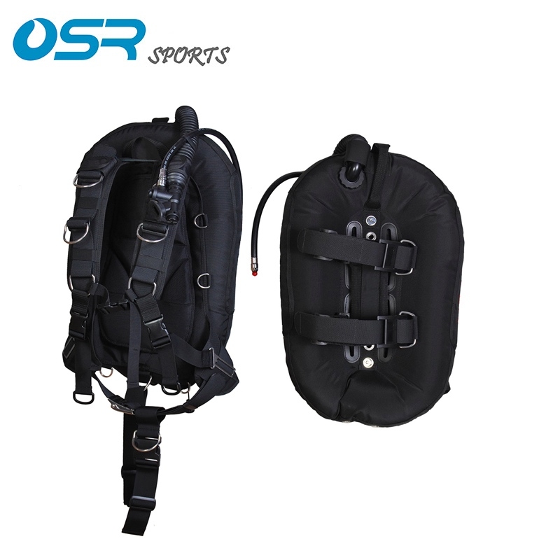 Scuba diving BCD 30lbs donut wing backmount with soft harness for travel
