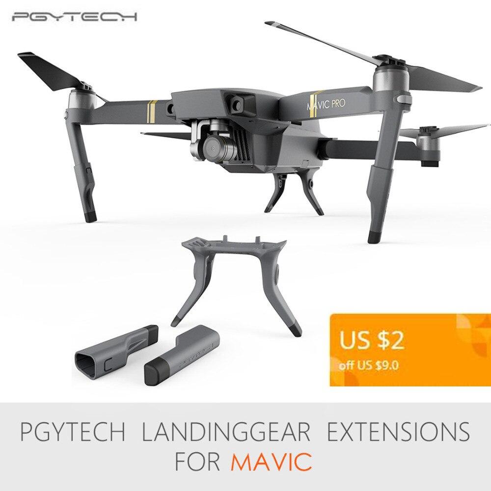 PGYTECH pagarinātā nolaišanās mehānisma kāju balsta protektora pagarinājums, kas piemērots DJI Mavic Pro drone piederumiem