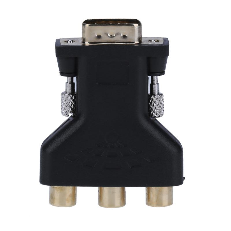 ALLOYSEED <font><b>VGA</b></font> Stecker auf <font><b>3</b></font> Cinch-buchse Konverter Adapter <font><b>Splitter</b></font> Draht Stecker <font><b>VGA</b></font> zu <font><b>3</b></font> RCA Adapter Video Kabel image