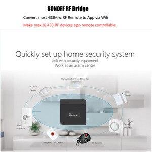 Image 2 - 2 шт. Sonoff RF мост WiFi 433 МГц преобразователь Ewelink приложение для автоматизации умного дома универсальный переключатель умный дом Wi Fi пульт дистанционного управления