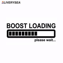 SLIVERYSEA 14CM*5CM BOOST LOADING Please Wait For Turbo Funny Car Stickers  #B1201