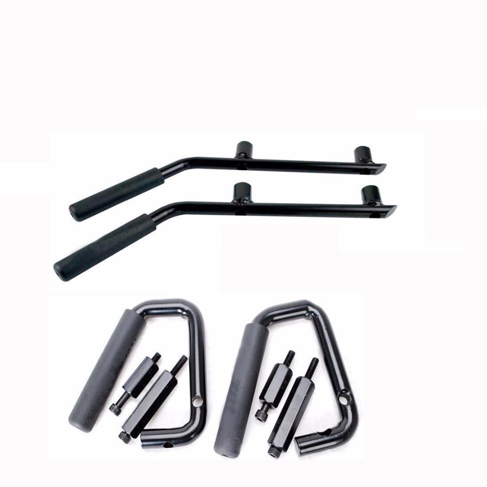 Lantsun J039 Black Grab Bar Front +rear Grab Handle for Jeep Wrangler JK Sahara Sport Rubicon X & Unlimited 2/4 Door 2007-2017 2pcs metal black hood buckle catch lock latches hold down for wrangler jk unlimited 2007 2016