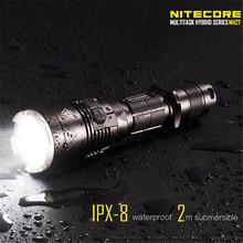 Nitecore Multitarea MH27 1000LM 7 modos Táctico XP-L HOLA V3 llevó la lámpara de luz de la Linterna 18650 de la antorcha + holster + cable + juntas tóricas + clip