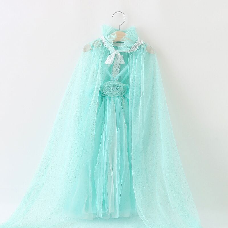 EMS DHL Free Shipping Girls Party Dresses Fairy Elsa Princess Dress With Cape And headbands Children Clothing New new original qy80 qy80 ts qy80 7s with free dhl ems