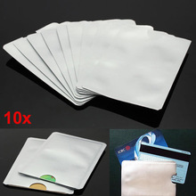 HOBBAGGO New 10pcs Credit Card Protector Secure Sleeves RFID Blocking ID Holder Foil Shield 88 New(China)