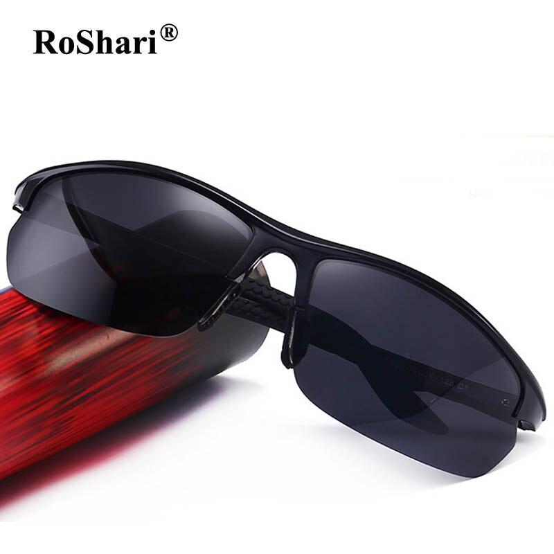 29296810bb2053 RoShari vintage lunettes de Soleil Polarisées Hommes Marque Designer  aviator Polaroid Conduite Lunettes Hommes lunette de soleil TR901