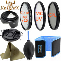 49mm 52mm 55mm 58mm 62mm 67mm FLD Lens Hood Cap Cleaning Lens Kit For Nikon Canon