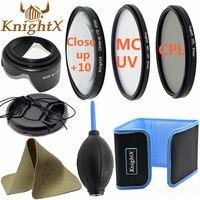 KnightX 49mm 52mm 55mm 58mm 67mm 72mm 77mm FLD UV Lens davlumbaz temizleme lensler Nikon Canon Pentax Sony D3100 D3200 için Kiti D7000
