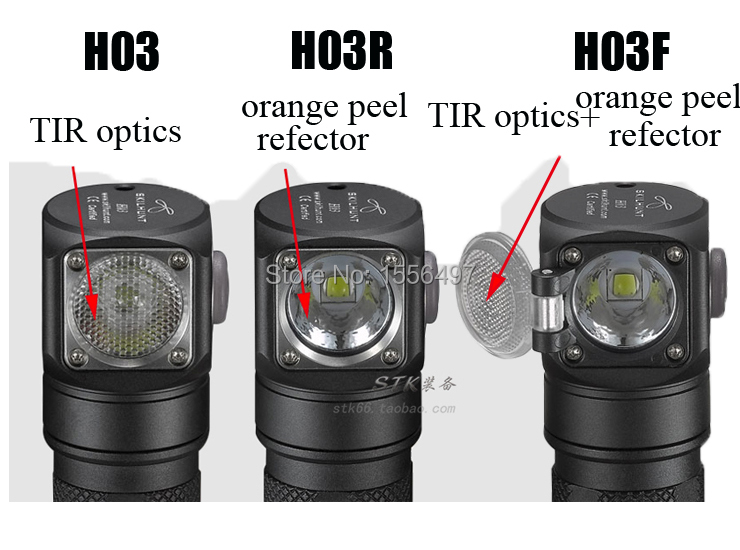 Nouveau Skilhunt H03 H03R H03F Lampe Frontale Led Lampe Frontale Cree XML1200Lm phare chasse pêche Camping phare + bandeau - 2