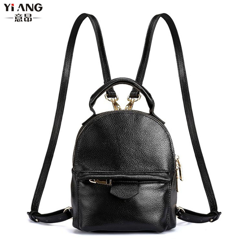 New Women Top Quality Genuine Leather Cowhide Women Ladies Korean Daypack Bag Luxury Retro Trend Female Mini Travel Backpack недорого