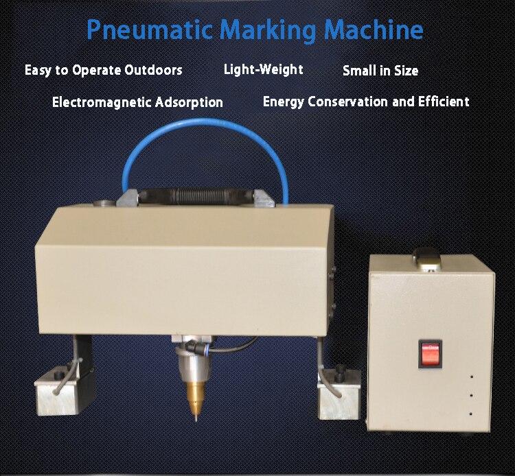 Métal lettrage plaque d'acier moule numéro de voiture Machine de marquage Portable codeur pneumatique Machine de marquage Machine de gravure JR-QD01