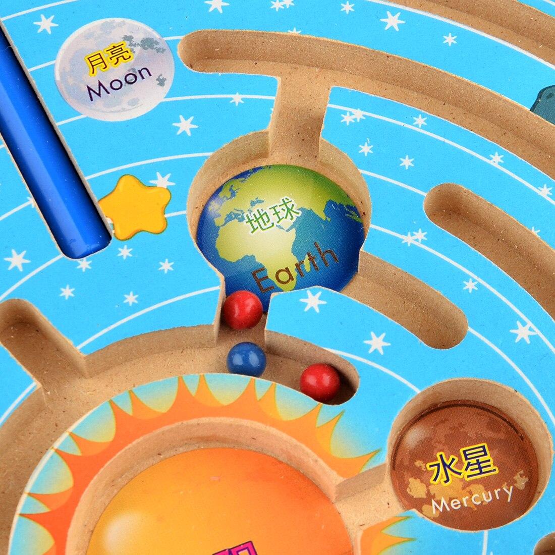 UTOYSLAND magneter pussel labyrint barn träleksaker nio planeter - Spel och pussel - Foto 5