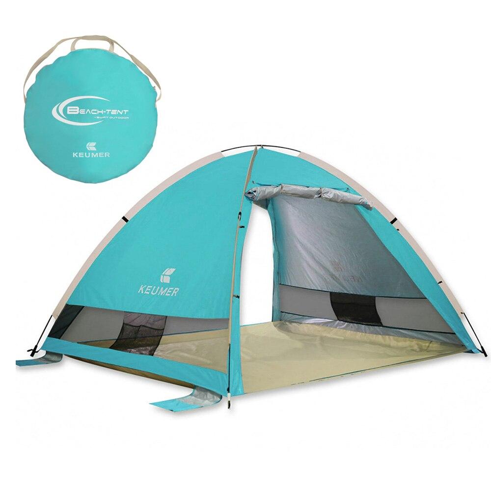 3-4 personnes en plein air tentes automatiques Pop Up Camping imperméable randonnée tente Uv Protection tente étanche grande famille tentes