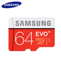 Original SAMSUNG Micro SD Card Memory Card EVO EVO Plus 64GB Class10 TF Card C10 80MB
