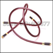 Pair 1m 3ft RCA Audio OFC Cable Locking Plug Phono CD Player Amplifier HiFi