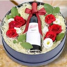 Новинка 500 г/пакет 2.5 мм DIY Красочные измельченных морщинка рафии Бумага свадебный подарок коробка заполнения День рождения украшения