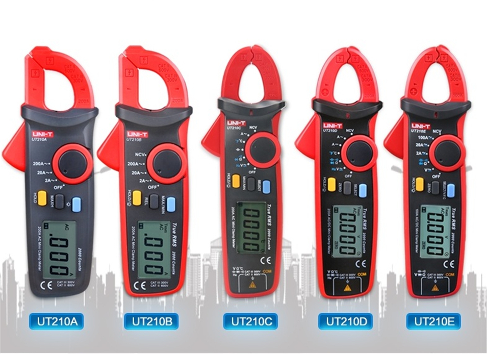 2018NEWEST UNI-T UT210C True RMS Auto-Range Digital AC/DC Voltage,AC Current Multimeter with NCV Temperature Test UNI-T UT210C uni t ut205 ture rms auto manual range digital handheld clamp meter multimeter ac dc voltage aca test tool