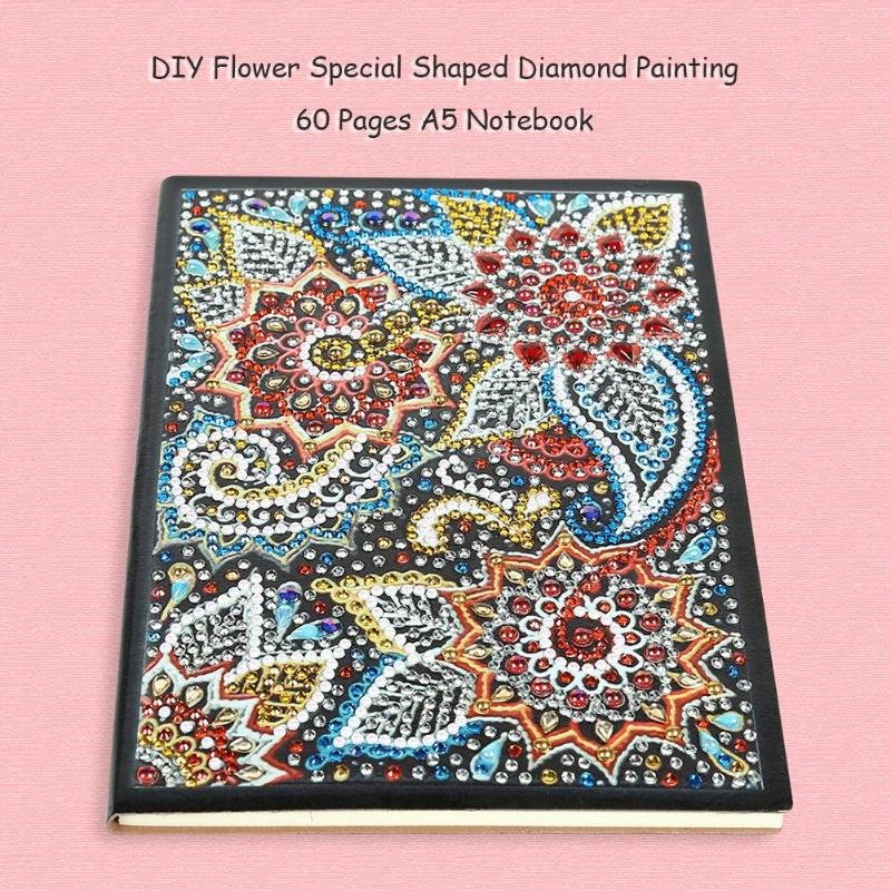 Diy Special Shaped Diamond Painting Notebook Diary Book 60 100