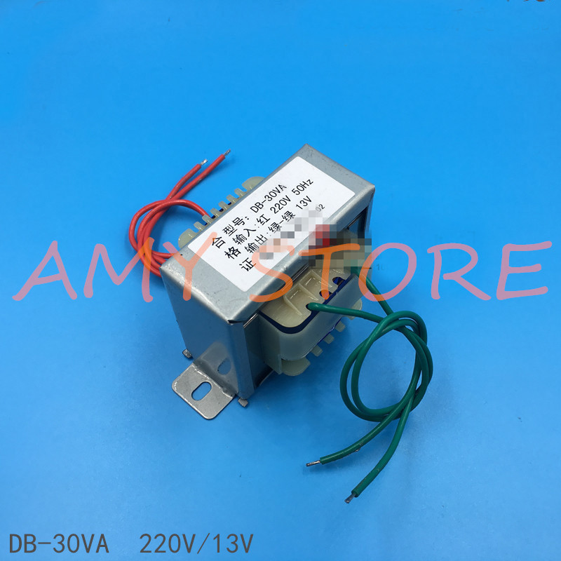 EI Type Power Transformer 30W <font><b>30VA</b></font> 2.3A Input 220V 50Hz Output AC 13V Outdoor Sound Audio image