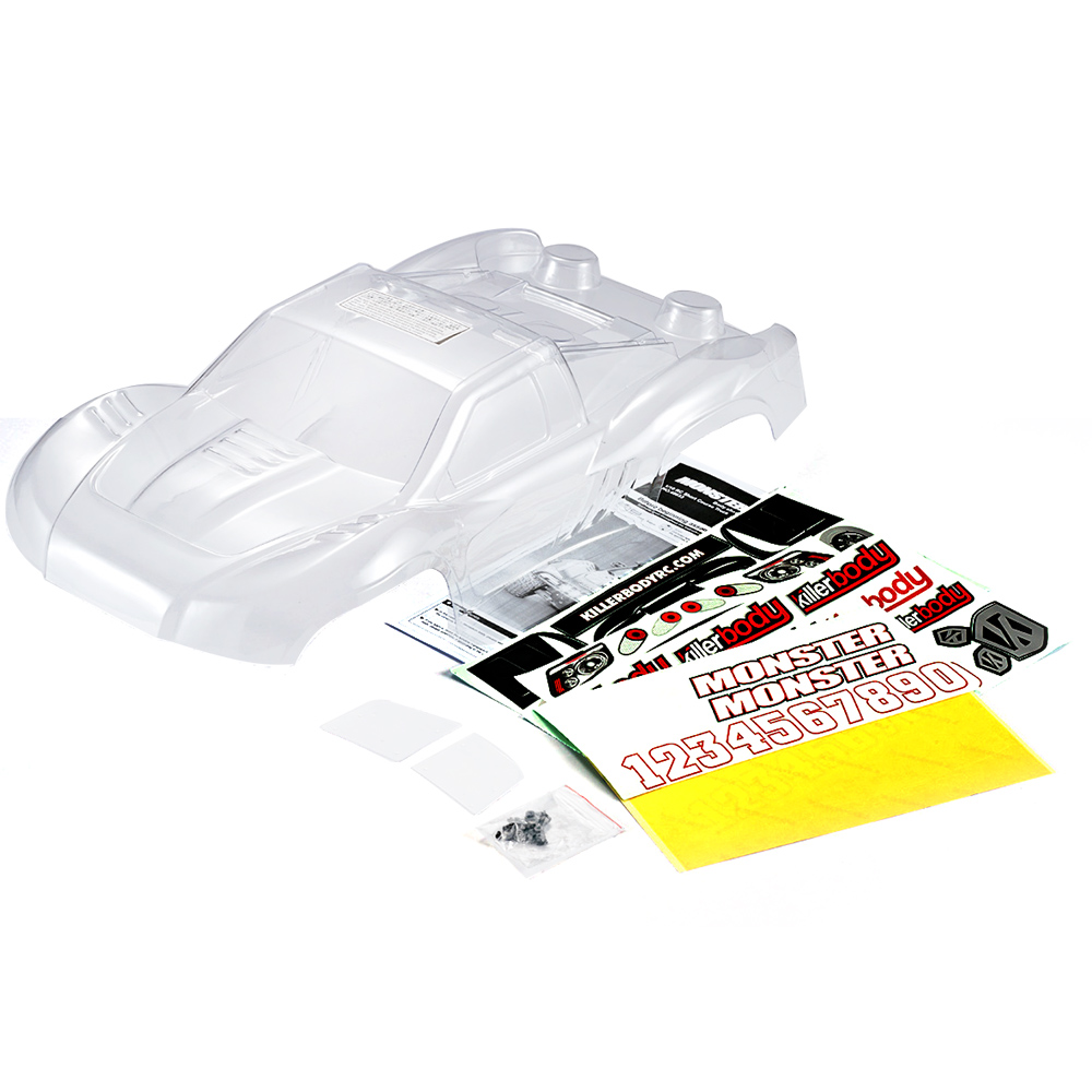 48033 327mm Short Course RC Car Truck Clear Body Shell Frame for 1/10 Traxxas HPI AE Drift Racing DIY Parts