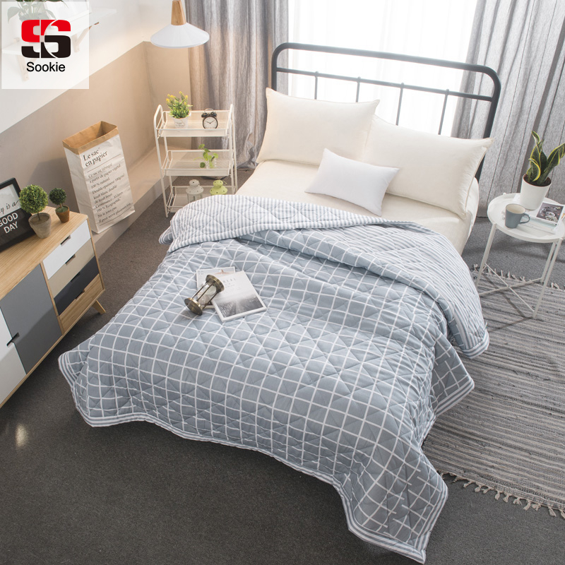 sookie summer quilt bedding 100 cotton quilted bedspread stiching duvet thin comforter cover. Black Bedroom Furniture Sets. Home Design Ideas