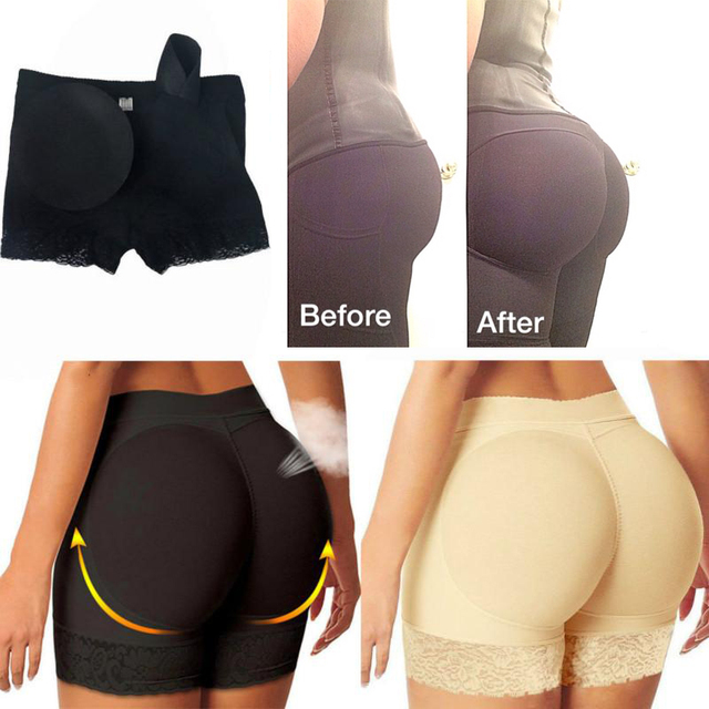 2b531f7bbff0b FAKE ASS Womens Butt and Hip Enhancer Booty Padded Underwear Panties Body  Shaper Seamless Butt Lifter