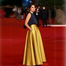 Гламурное торжественное Золотое вечернее платье Касия Smutniak звезды Римский кинофестиваль знаменитостей Красные ковровые платья атласное платье