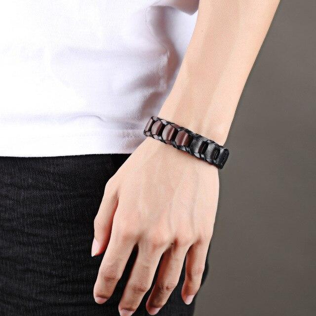 Модные аксессуары браслет из воловьей кожи винтажный двухцветный