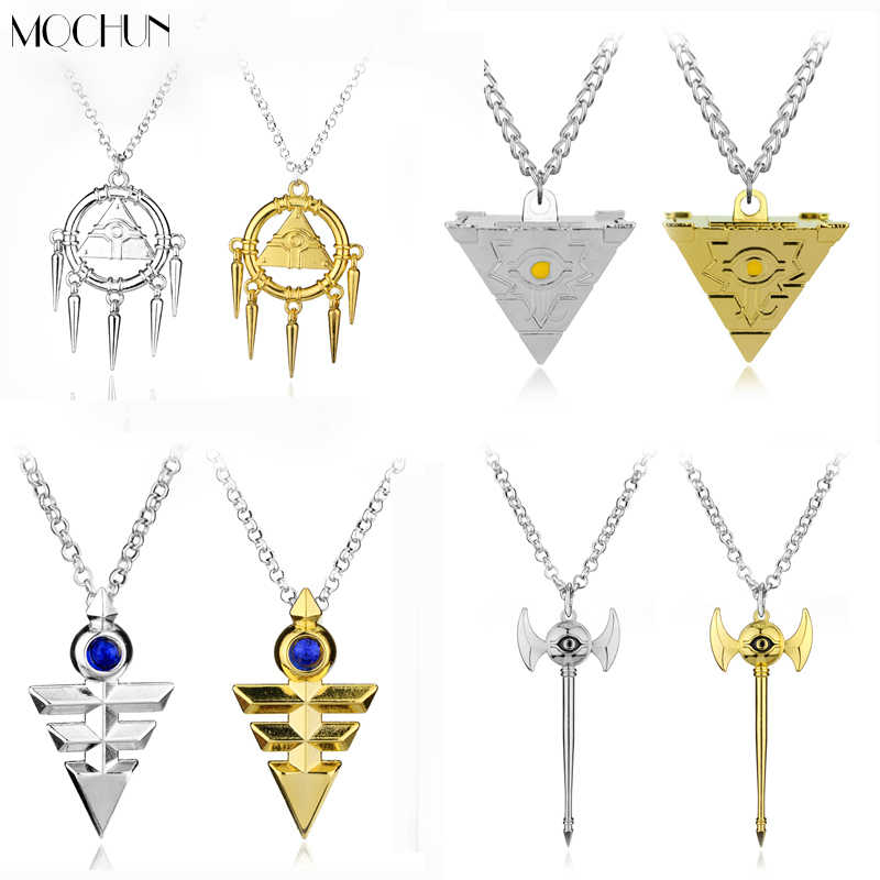 3D Yu-Gi-Oh Necklace Millenium Pendant Jewelry Anime Yugioh Toy Yu Gi Oh Cosplay Pyramid Egyptian Eye Of Horus Necklace